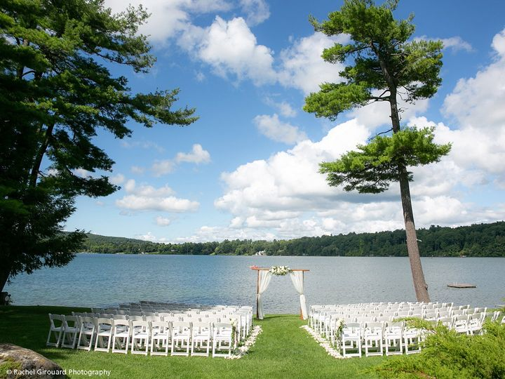 Our lakeside ceremony site