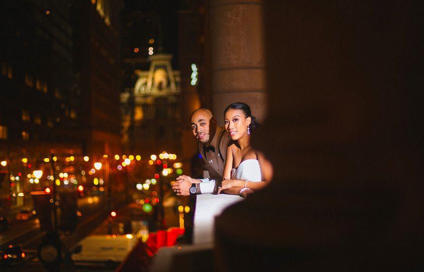Newlyweds on the ledge