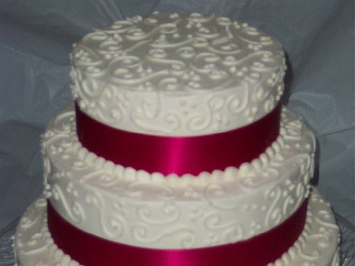 Tmx 1288230779576 Scrollandribbon Lisbon, ME wedding cake