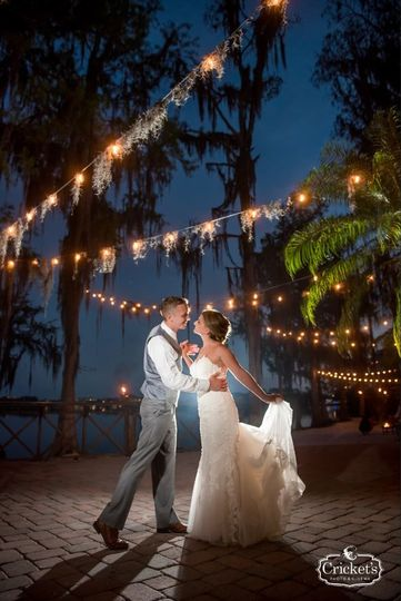 Paradise cove wedding with market lighting