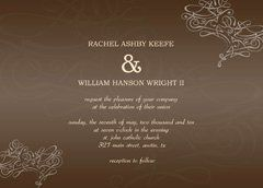 brown and cream modern wedding invitation, free bridal shower invitations, free printable wedding...