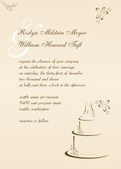 cream modern wedding invitation, cake wedding invitation design, free bridal shower invitations,...