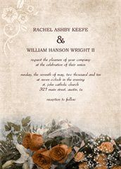 vintage wedding invitation, roses wedding invitation design, free bridal shower invitations, free...