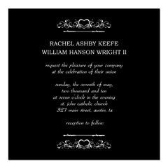 simple wedding invitation, black and white wedding invitation design, free bridal shower...