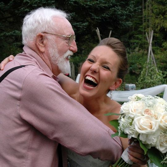 BrideGrandfatherLaughingHappy