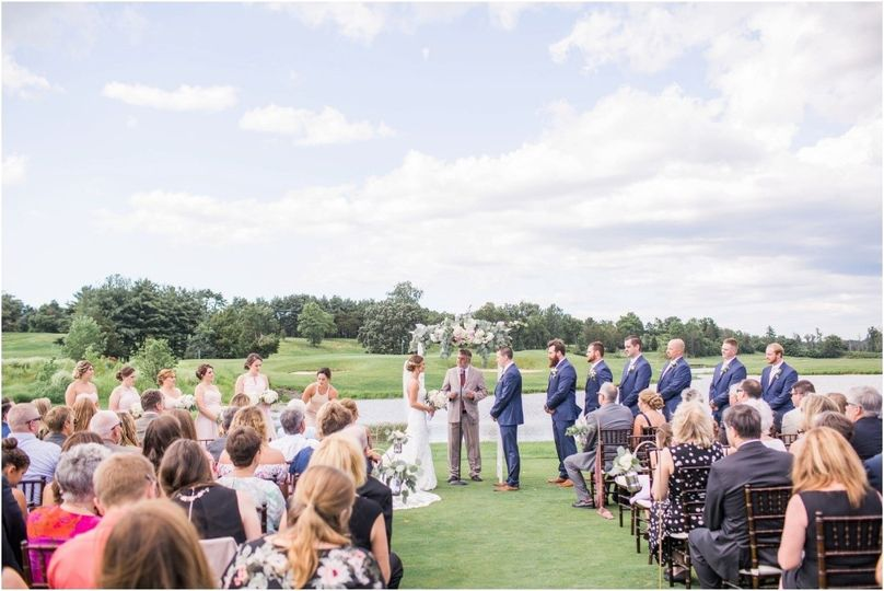 Ceremony on the tee