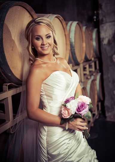 Bride by the barrels