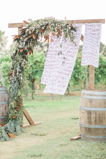 Ceremony amongst the vines
