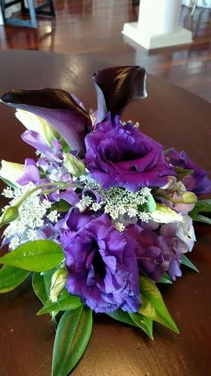 White, violet and green