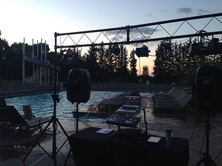 Pool party setup