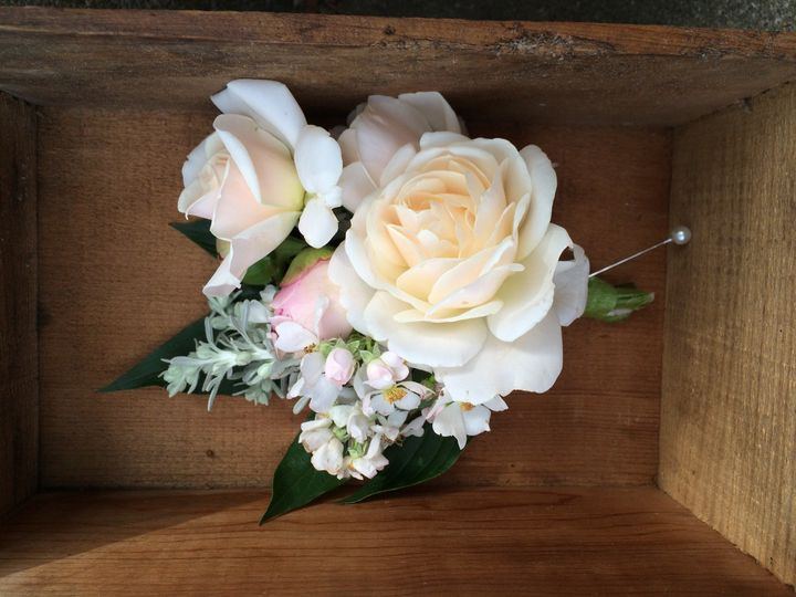 Farm grown sustainably harvested corsage
