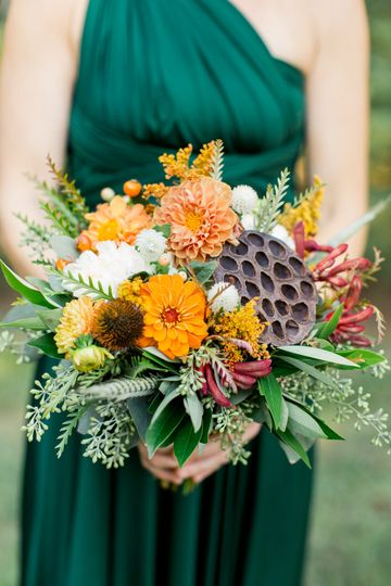 Fall bridesmaid bouquet