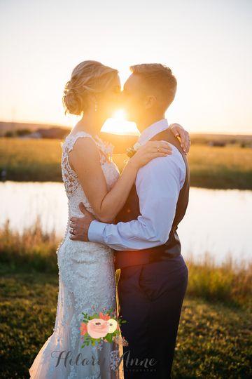 Kiss on sunset