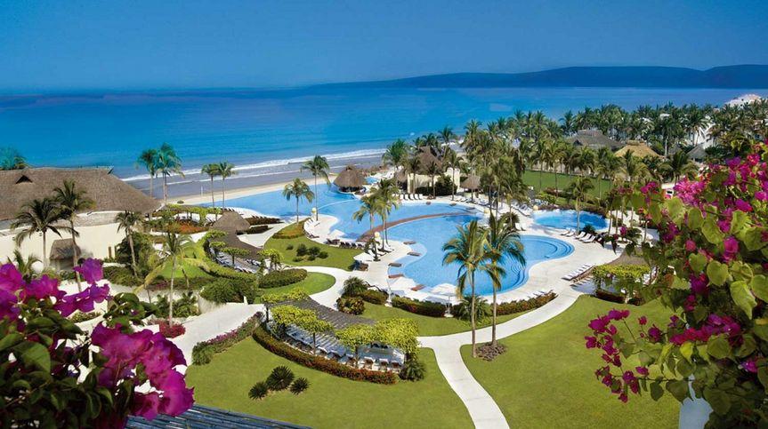 Beachfront Mexican resort