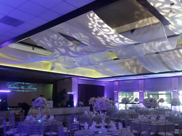 Long Beach Wedding at The Grand Long Beach Event Center. Uplighting and Monogram Lighting....