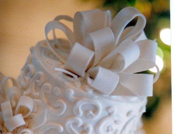 Tmx 1467162295923 Fondant Bows Milford wedding cake