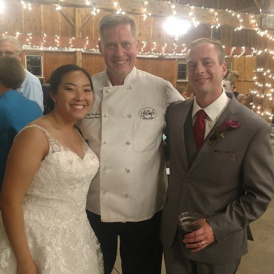 The couple and the chef