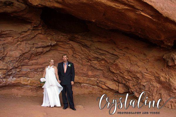 Wedding photos at Red Rocks Amphitheater