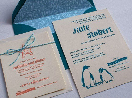 Tmx 1330964053530 SeaCreaturesLetterpressWeddingInvitations5550x412 Brooklyn wedding invitation