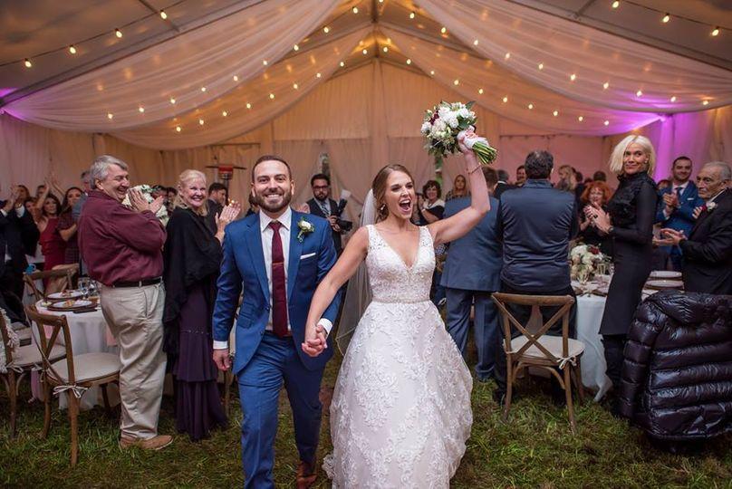 Couple enters reception