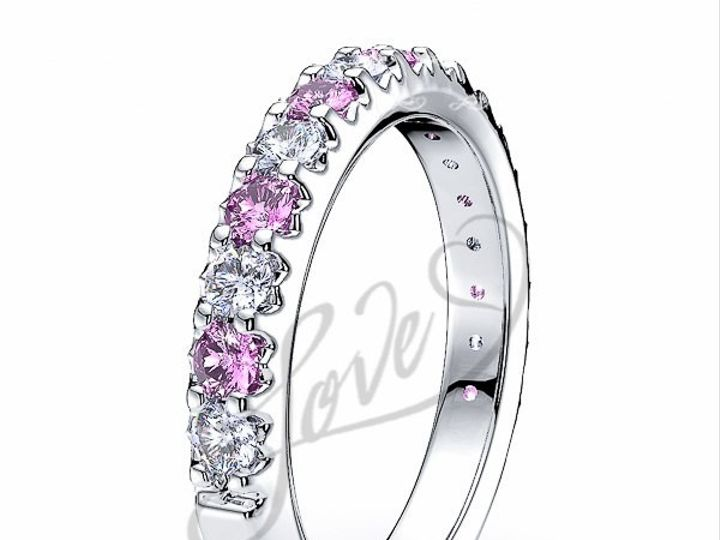 Tmx 1435700713566 510004300whitegolddiamondandpinksapphireanniversar New York wedding jewelry