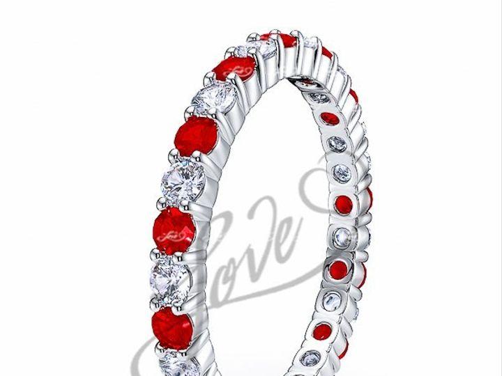 Tmx 1435700745380 610001600whitegolddiamondandrubyeternityweddingban New York wedding jewelry