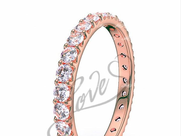 Tmx 1435700756790 610002600pinkgolddiamondeternityweddingbands New York wedding jewelry