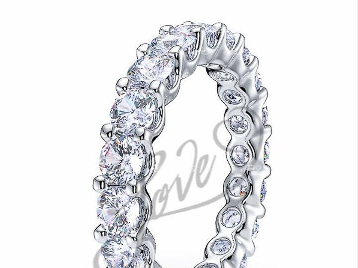 Tmx 1435700789379 610002700whitegolddiamondeternityweddingbands New York wedding jewelry