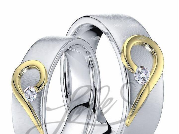 Tmx 1435700821423 111000brushtwotoneahisandhersweddingbands New York wedding jewelry