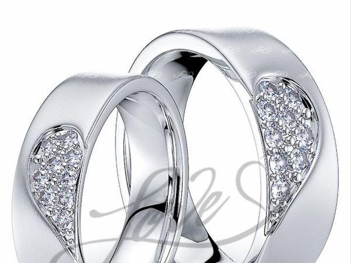 Tmx 1435700840295 111100mattewhitehisandhersweddingbands New York wedding jewelry
