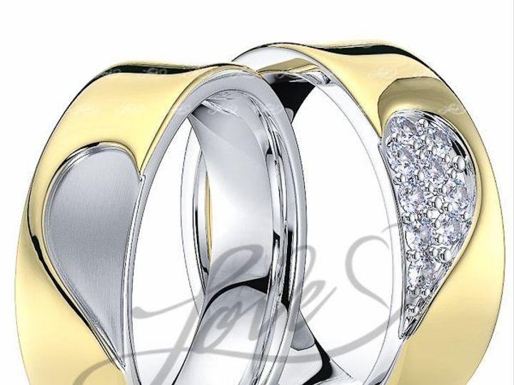 Tmx 1435700856584 111200shinytwotoneahisandhersweddingbands New York wedding jewelry