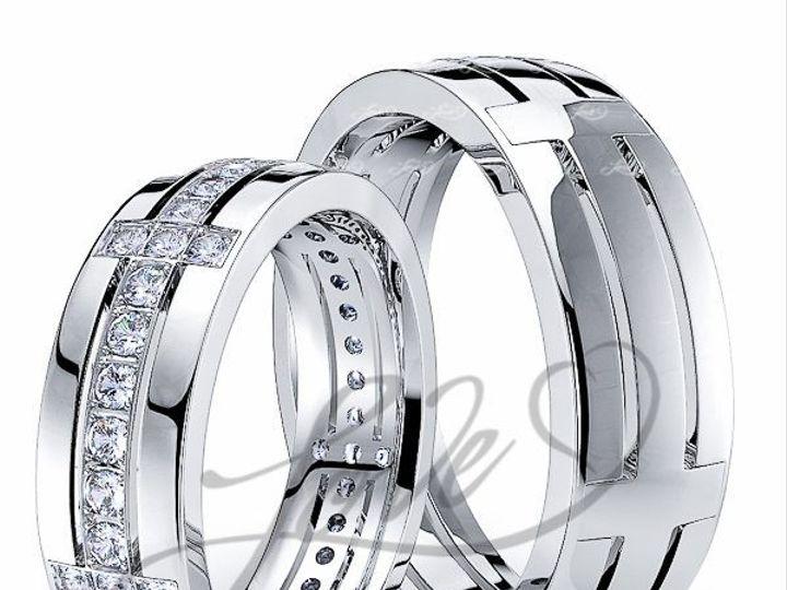 Tmx 1435700910658 113100shinywhitehisandhersweddingbands New York wedding jewelry