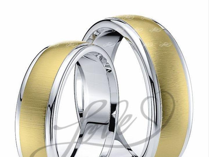 Tmx 1435700928222 113000brushtwotoneahisandhersweddingbands New York wedding jewelry
