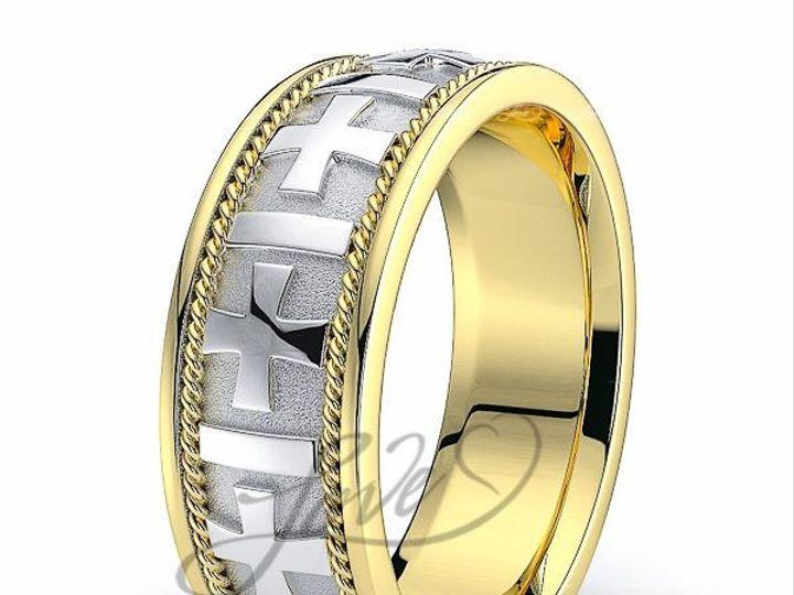 Tmx 1435700951557 211000shinytwotonebhandmadeweddingbands New York wedding jewelry