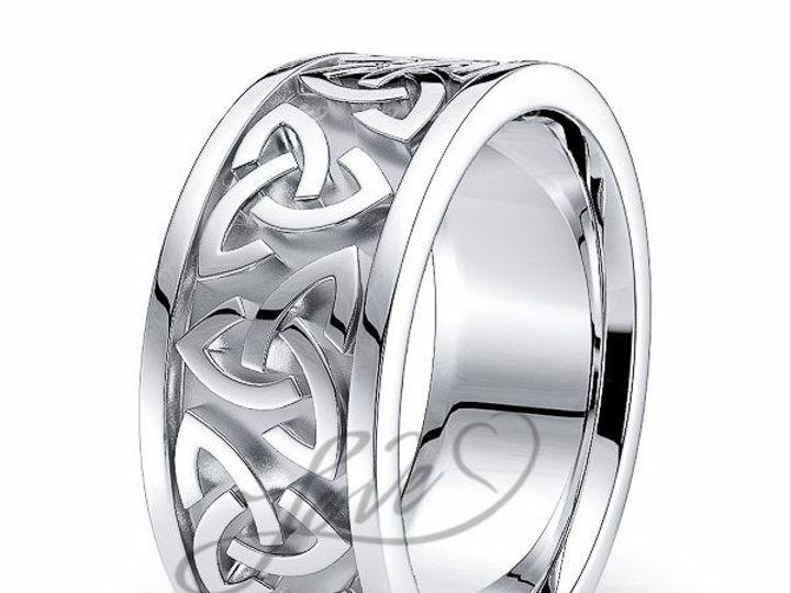 Tmx 1435700981138 411000shinywhitecelticweddingbands New York wedding jewelry