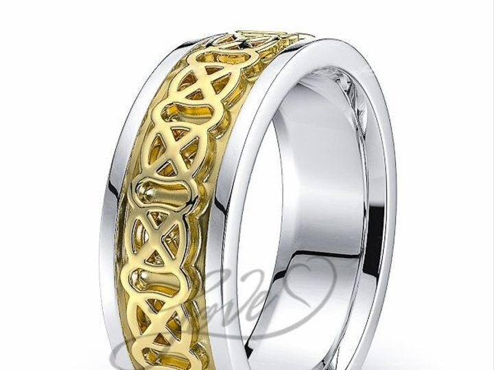 Tmx 1435700989591 413900shinytwotoneacelticweddingbands New York wedding jewelry