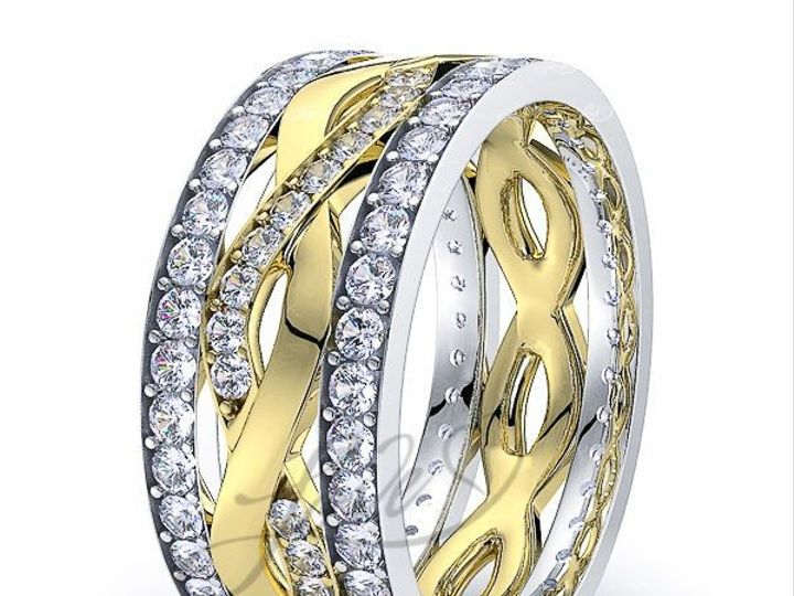 Tmx 1435701021163 711900shinytwotoneadiamondweddingbands New York wedding jewelry