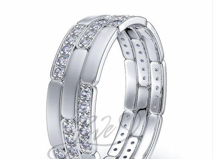 Tmx 1435701044782 711800brushwhitediamondweddingbands New York wedding jewelry