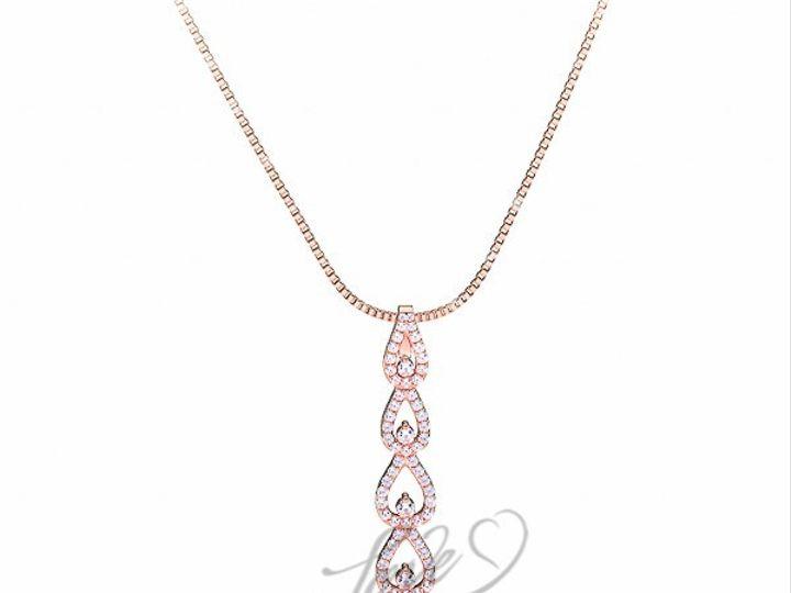 Tmx 1435701069790 1100001800pinkgolddiamondreligiouscrosspendant New York wedding jewelry