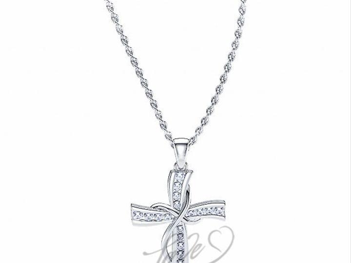 Tmx 1435701077696 1100002300whitegolddiamondreligiouscrosspendant New York wedding jewelry