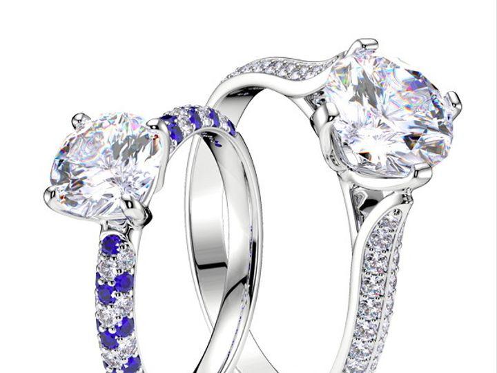 Tmx 1435701417528 Paveengagementring New York wedding jewelry