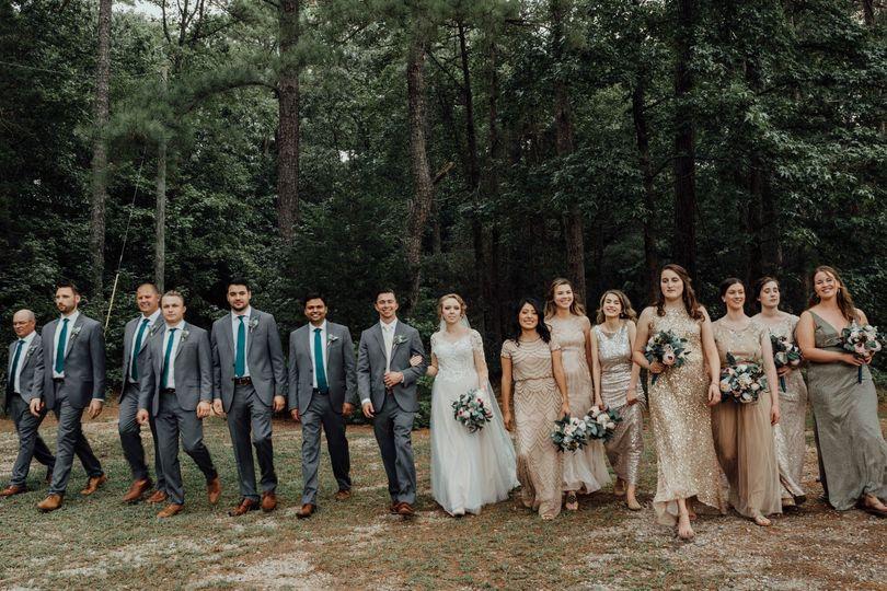 Bridal party slow walk