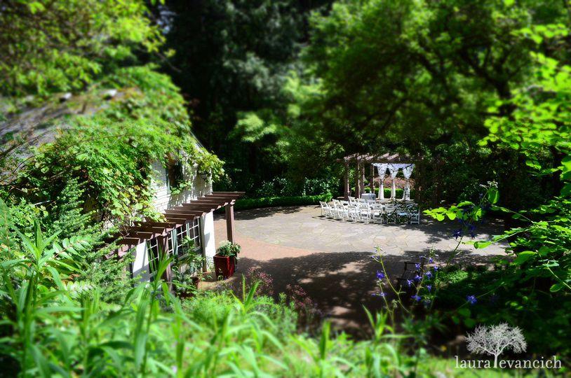 exterior view of Leach Botanical Garden