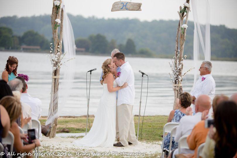 Beach wedding at Widewater