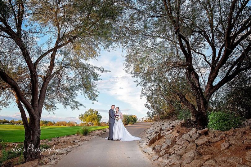 Newlyweds on the path