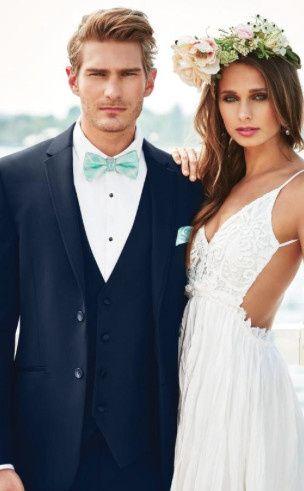 navy sterling wedding