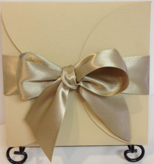 The Pinwheel  in beige, with ribbon wrap  Also available/matching: Engagement notices Save The Date...
