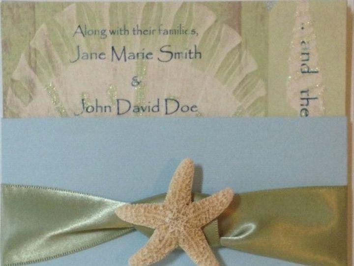 Tmx 1327860718138 SeaSaltSageRibbon Charlotte wedding invitation