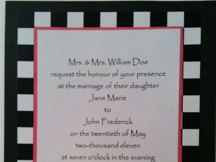 Tmx 1327862202559 CheckInvitationNoHeart Charlotte wedding invitation