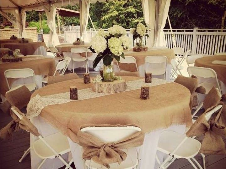 Tmx 1403835275533 Rustic Wedding Burlap Tablecloths Sashes Lace Runn Miami wedding eventproduction